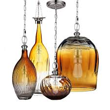 modern blown glass amber shade pendant lighting 11908 amber pendant lighting