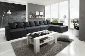 Wohnzimmer Couch Schwarz Kreativhbraonline