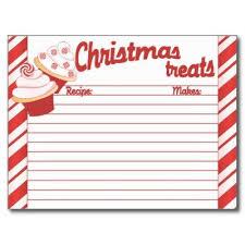 Christmas Recipe Card Christmas Recipe Cards Tirevi Fontanacountryinn Com