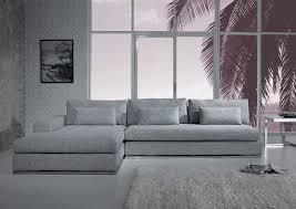 Light Grey Velvet Sectional Ashfield Modern Light Grey Fabric Sectional Sofa Grey