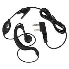 2x headset earpiece baofeng radio security 2pin walkie talkie