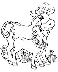 Small Picture Cow Coloring Pages Coloringpages1001com