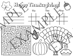 Free printable thanksgiving games & puzzles. Printable Thanksgiving Placemat For Kids Making Time For Memories