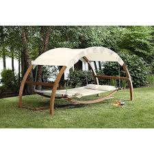 outdoor lawn garden deck wood patio canopy porch daybed swing bed gazebo hammock unbranded