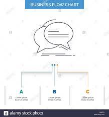 Bubble Chat Communication Speech Talk Business Flow