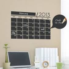 Chalkboard Wall Calendar Vinyl Wall Decals por SimpleShapes, $35.00