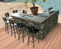 outdoor kitchen tile countertop ideas. this l-shaped outdoor kitchen combines entertaining with poolside living. a grill and built-in cooler complete it, ample seating area makes the space tile countertop ideas r