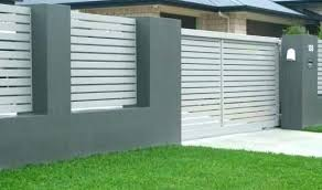 Modern metal fence design Modern Farmhouse Clever Modern Metal Fence Design Garden Fencing Ideas Concrete Designs By Smpl Peachy Ideas Modern Metal Fence Design 2017 Residential Wrought Iron
