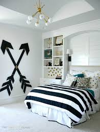 Modern Bedroom Bedding Wooden Wall Arrows Girls Pottery And Design