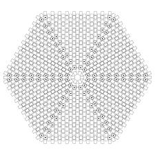 Rosette Beading Graph Paper Template Beading Graph Paper Printable