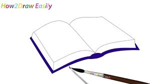 how to draw an open book easy step by step drawing coloring