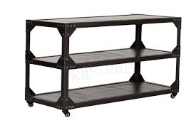 Vintage Metal Kitchen Cart Industrial 3 Tier Shelving Unit French Vintage Metal 3 Tier Table