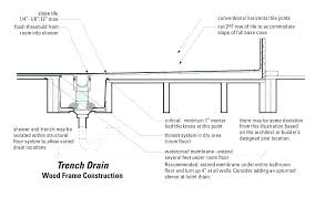 linear shower drain installation linear shower drain installation center drains within plan with trench alternative to