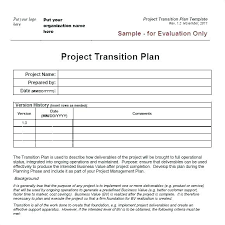 Transition Plan Template Word Transition Management Plan Template Herconstruction Co