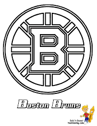 Small Picture Boston Bruins Hockey Coloring Page We have all the NHL Teams