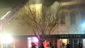 russell street building caught on fire in orangeburg tonight