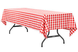 gingham checd rectangular polyester tablecloth 60 x120 red white