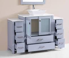 54 Bathroom Vanity Cabinet 54 Newport Gray Single Modern Bathroom Vanity With 2 Side