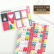 Kit 81 Add On Weekly Kit Version 2 0 For Weekly Spread Plum Paper Stickers Planner Stickers Ppt S L_d3 3