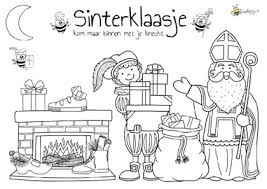 Kleurplaten Sinterklaas Jufbijtjenl