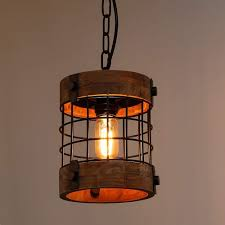 Image Wood Shop Single Vintage Industrial Rustic Pendant Light Fixture Circular Wood Black Antique Chandelier Free Shipping Today Overstock 24127101 Shades Of Light Shop Single Vintage Industrial Rustic Pendant Light Fixture
