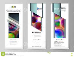 Flyers Flag Roll Up Banner Stands Flat Templates Geometric Style