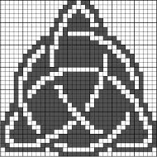 Celtic Symbol Chart Three Sided Celtic Knot In A Circle Celtic Cross Stitch