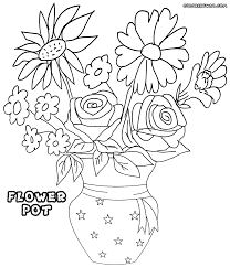 Small Picture Flower Pot Coloring Pages For Pot Coloring Page itgodme