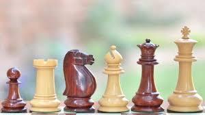 staunton chess set bud rose wood box wood 4 6 vj044