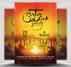 Winter Solstice Party Flyer Template - Flyerheroes