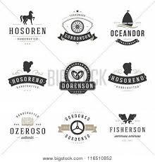 Vintage Logo Vector Vintage Logos Design Templates Set Vector Design Elements Poster Id