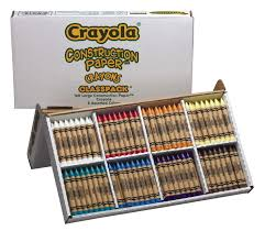 Crayola Large Construction Paper Crayons Assorted Colors Soar