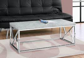 coffee table grey cement w chrome
