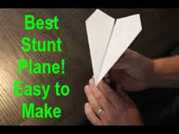a paper airplane stunt plane edition