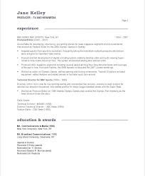 Television Director Resume Music Producer Resume Sample New Media ...