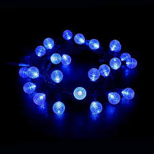 Blue Outdoor Lights Maxinda Led Outdoor Christmas Light Blue 13ft 25 Led Globe Ball Light Strings With G30 Bulbs Commercial Grade Decorative Holiday Garden Patio Wedding