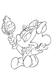Pictures Baby Minnie Coloring Minnie Baby