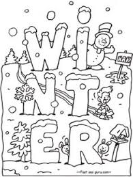 Small Picture Snowy Day Coloring Page Worksheets Winter theme and Activities