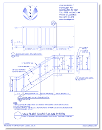 dwgblade glass panel perforated metal panel railing stair view