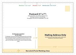 Standard Postcard Size Template Standard Postcard Template Oversized