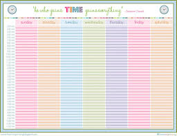 week schedule print out printable week schedule tgam cover letter