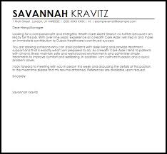 Healthcare Cover Letter Examples Example Resume Cover Superb