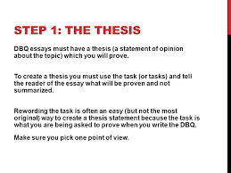 dbq introduction and conclusion step the thesis dbq essays  2 dbq 1 introduction and conclusion