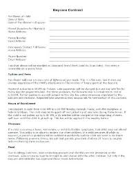 Daycare Contract Template Free Now Home Daycare Contract Template Babysitting Babysitter