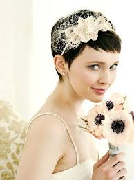 Short Wedding Hairstyles 5 Inspiration Low On Hair High On Style Options For The Short Haired Bride H