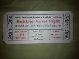 Movie Night Invitation Templates Outdoor Movie Night Invitation Template Outdoor Furniture Design