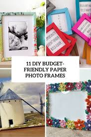 11 diy budget friendly paper photo frames cover