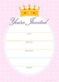 Princess Invitations Free Template Free Printable Party Invitations Free Invitations For A Princess