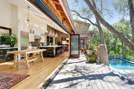 Contemporary Deck With Indoor/outdoor Living, Outdoor Kitchen, Cedar  Shingle Siding, Vaulted