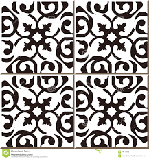 Black And White Pattern Tile Enchanting Vintage Seamless Wall Tiles Of Black White Curve Spiral Moroccan